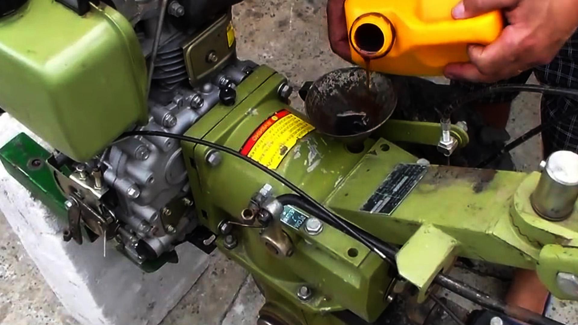 Масло в редуктор мотоблока