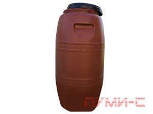 Бочка пластиковая коричневая бу с винтовой крышкой