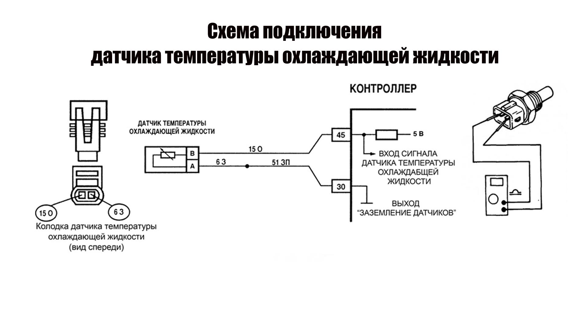 схема подключения датчика температуры ож