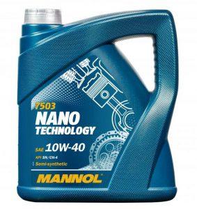 Mannol Nano масло моторное 10в-40 купить в Минске