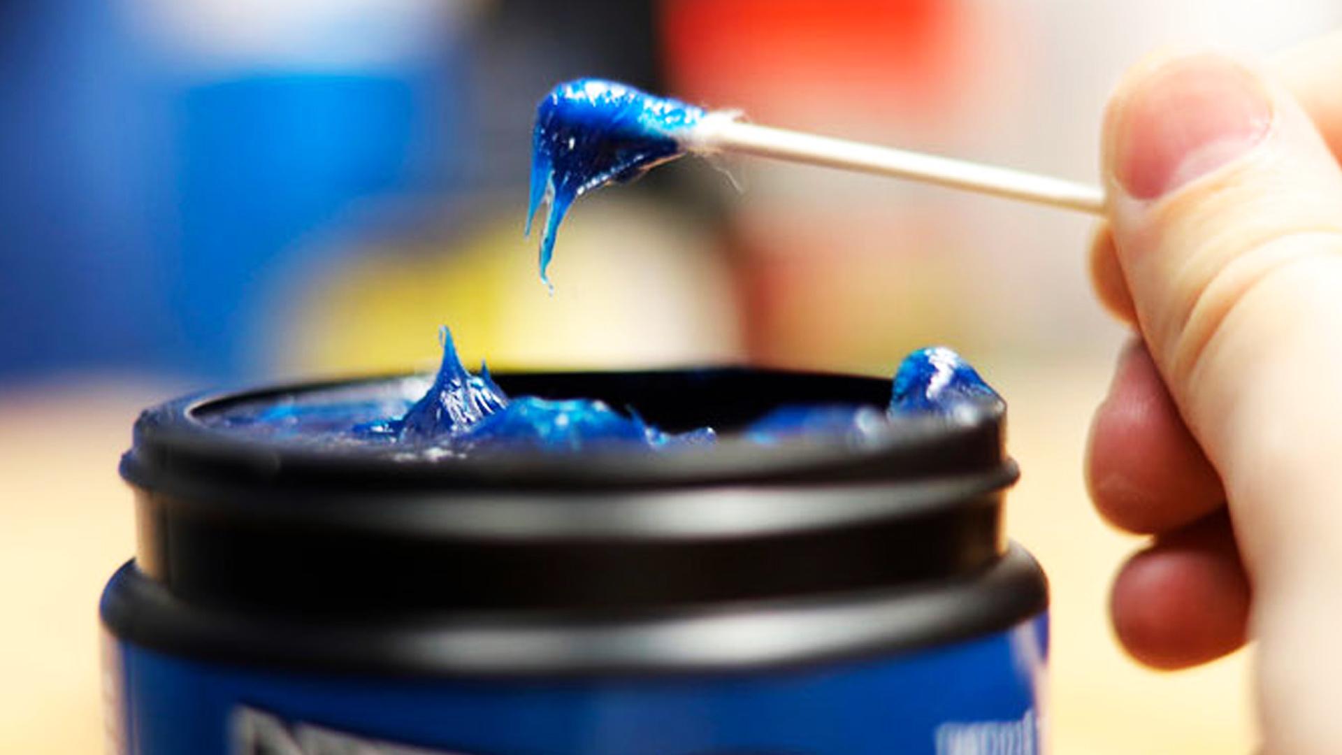 Синяя литиевая смазка