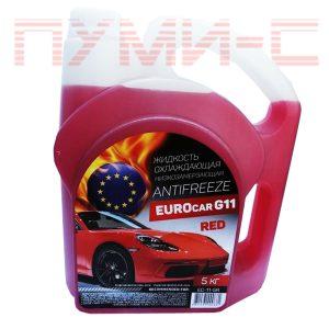 Антифриз 5 кг Eurocar red красный G11